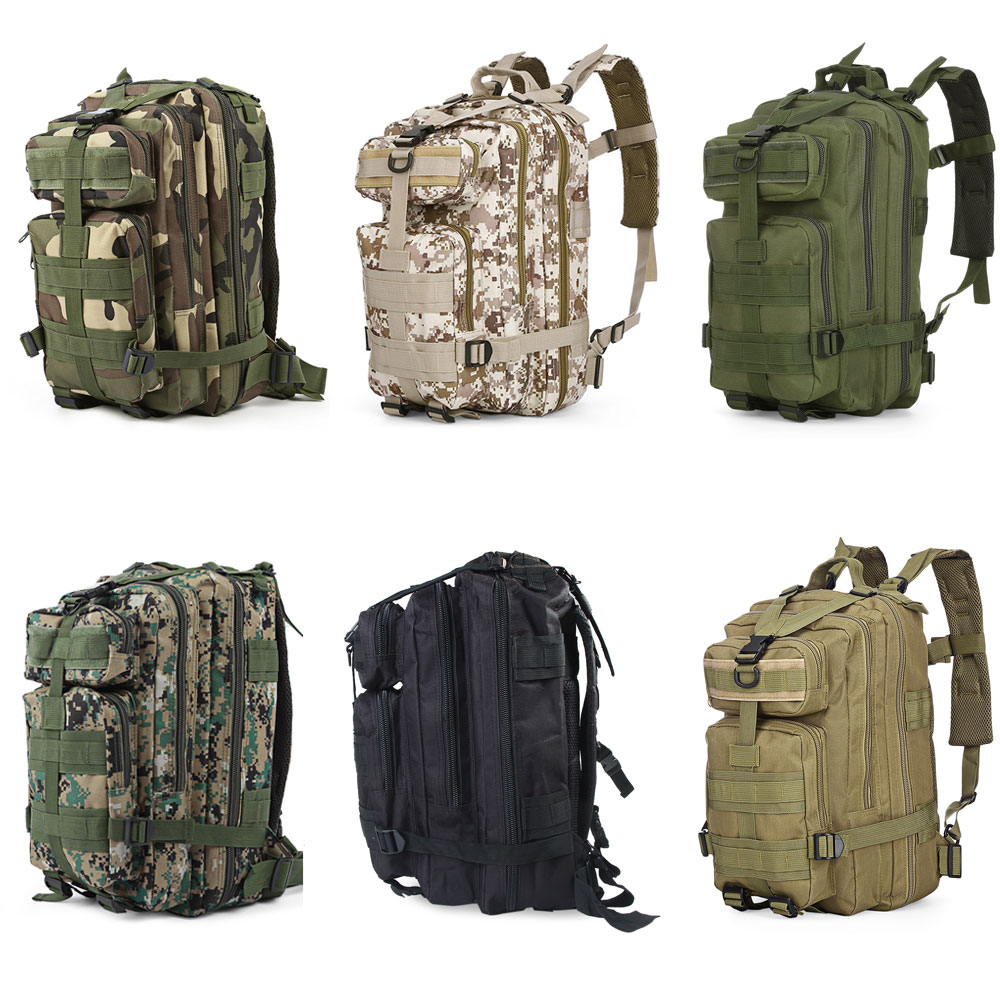 Outdoor Backpack 30L 3D Sport Tactical Military Backpack Bag Travel Army Trekking Rucksack Camping Hiking Camouflage Outdoor Bag