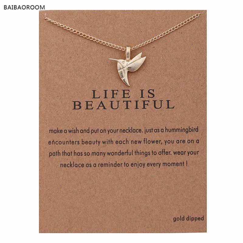 תכשיטים חדש זהב-צבע חיים הוא יפה ציפור בריח קצר קולר שרשרת לנשים