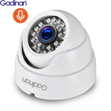Gadinan 3MP 1080P Audio Recordingกล้องIP Full HDเครือข่ายPOE Onvif Night Vision Domeในร่มIPกล้องONVIF P2P