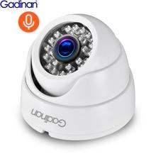 كاميرا تسجيل الصوت IP من غيدينان بدقة 3 ميجابكسل 1080 بكسل كاميرا شبكة كاملة الوضوح POE كاميرا Onvif للرؤية الليلية على شكل قبة كاميرا IP منزلية داخلية ONVIF P2P
