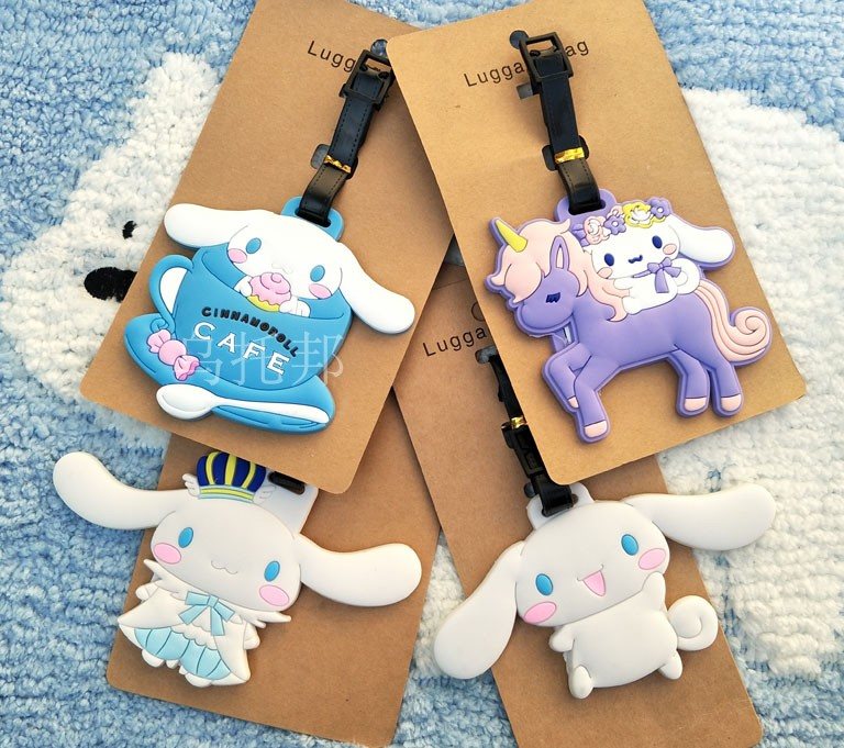 2018 Time-limited New Suitcase Mala Travel Supplies Sanrio Cinnamoroll Big Ear Dogs Cinnamon Soft Plastic Luggage Tag Checked Ne