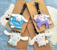 2018 Time-limited New Suitcase Mala Travel Supplies Sanrio Cinnamoroll Big Ear Dogs Cinnamon Soft Plastic Luggage Tag Checked ne