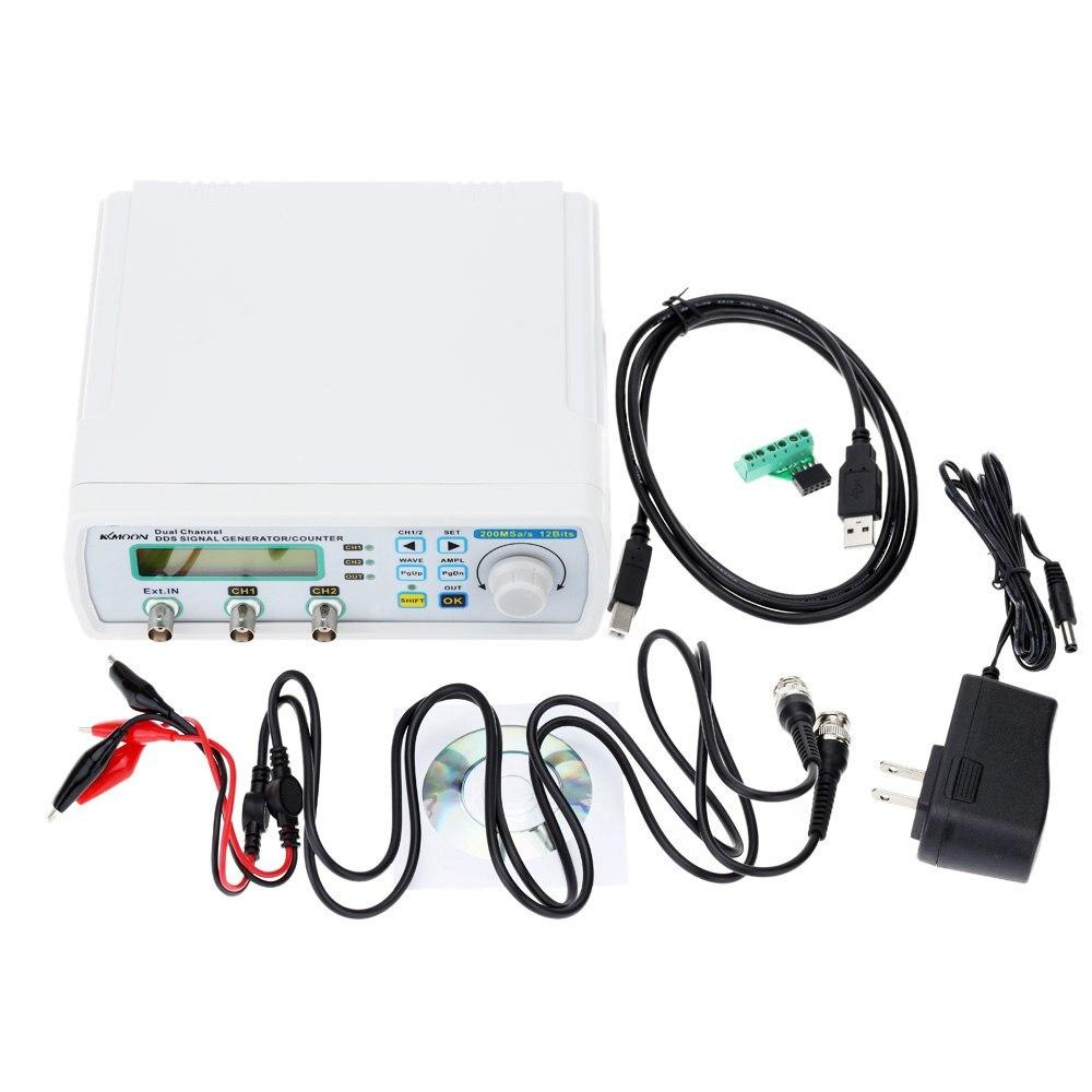 KKMOON générateur de Signal générateur de fonction numérique DDS générateur de Source de Signal compteur de fréquence de forme d'onde arbitraire 200MSa/s 25 MHz
