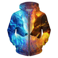 New Brand Funny 3D Hoodies Mens Animal Printed Sweatshirt Hip Hop Tops Fashion Casual Pullover Large