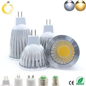 Image 2 - COB led spotlight 9W 12W 15W led lights E27 E14 GU10 GU5.3 220V MR16 12V Cob led bulb Warm White Cold White lampada led lamp