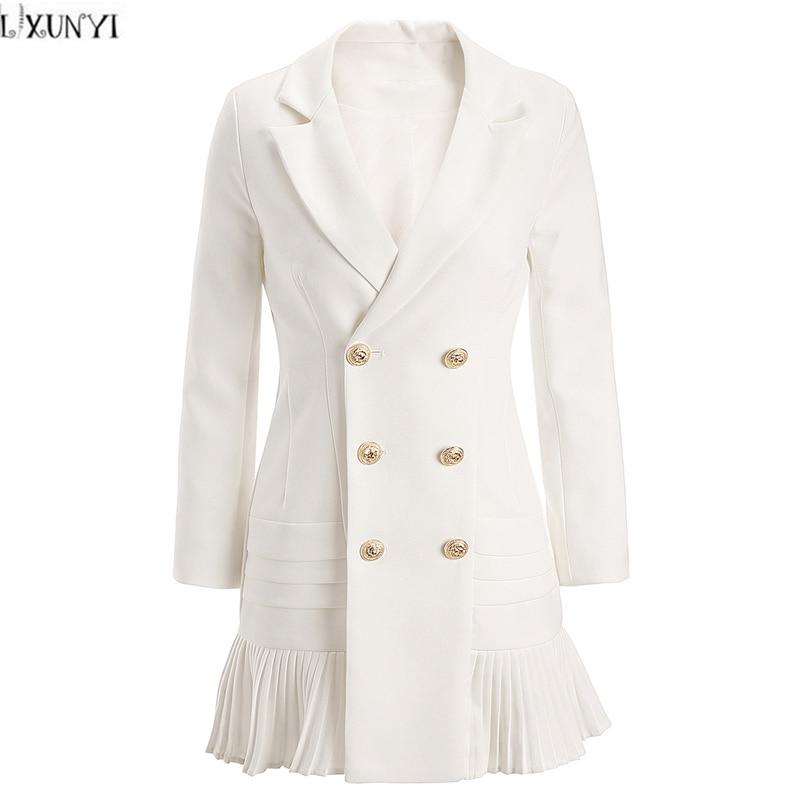 Womens Long Sleeve Jacket Autumn Ladies Causal Ruffles
