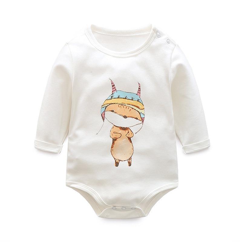Розничная продажа мультфильм Стиль для маленьких девочек мальчик осенняя одежда новорожденного тело ребенка Ropa детское боди с длинным рукавом детское боди s 6-18 м
