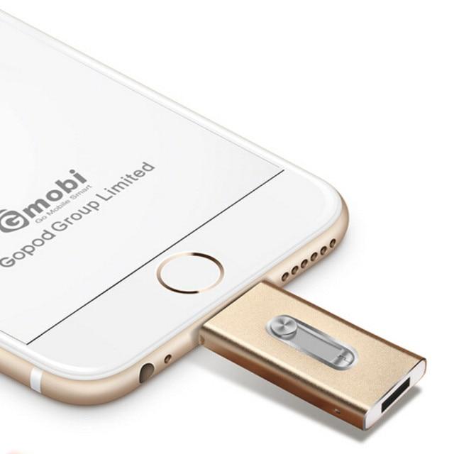 Металл я-flash Drive HD 100% в Режиме Реального 8 ГБ-64 ГБ для Android otg USB Flash Drive Для iphone 5/5s/5c/6/6 Плюс/ipad Pendrive