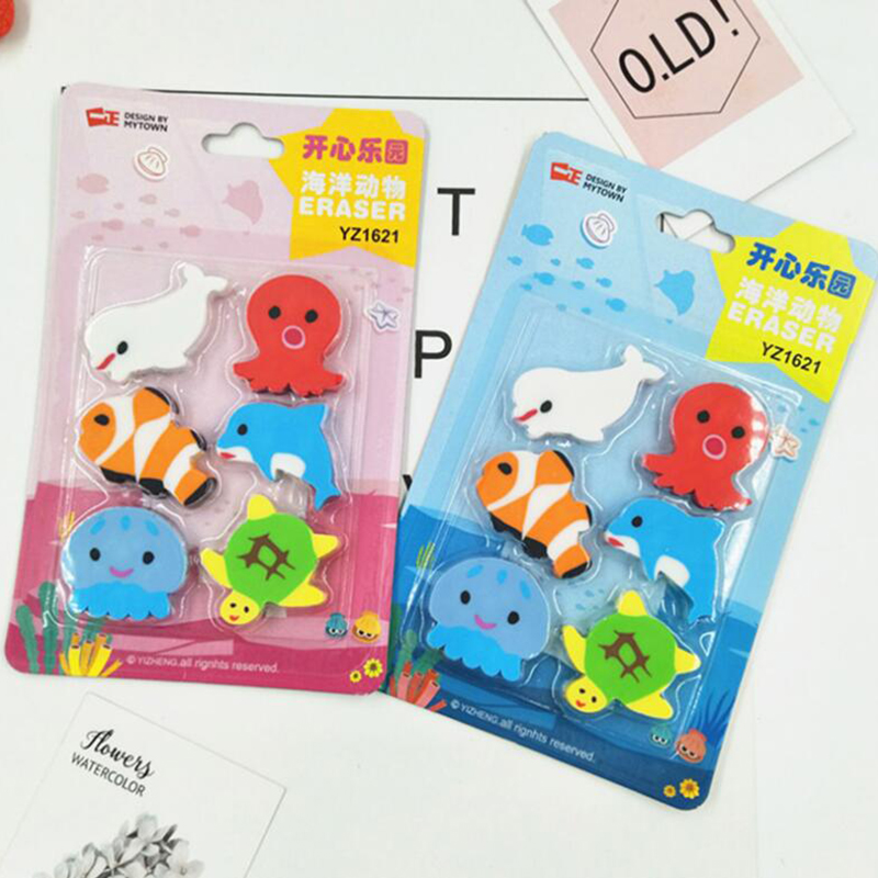 Kids Prize Eraser Set Cartoon Animal Eraser Set For School Kids Teacher's Prize Eraser