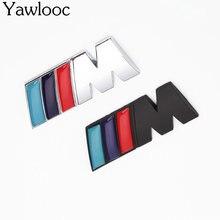 1 pc/lot Cool Car Auto Decoration Badge Stickers M Logo Metal 3D Car Sticker for BMW M3 M5 X1 X3 X5 X6 E36 E39 E46 E30 E60 E92