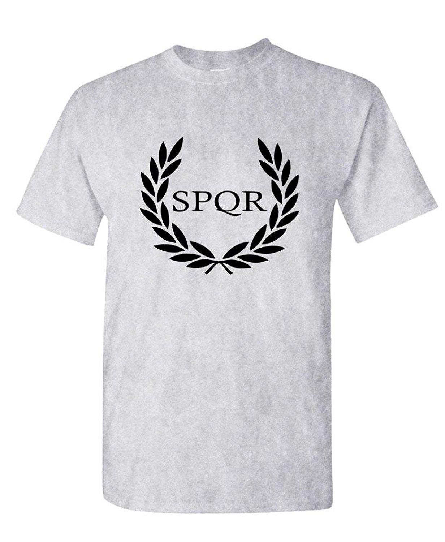 Gildan Funny Cheap Tee Shirts Spqr Roman Eagle Empire Caesar Wreath