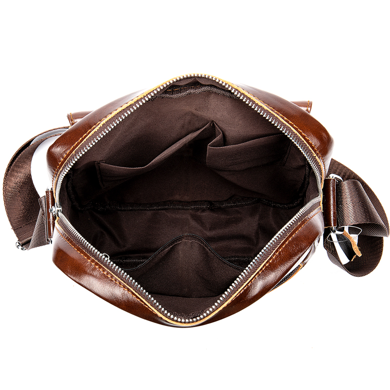 Head layer cowhide men 39 s bag stylish single shoulder upright briefcase casual retro crossbody bag in Crossbody Bags from Luggage amp Bags