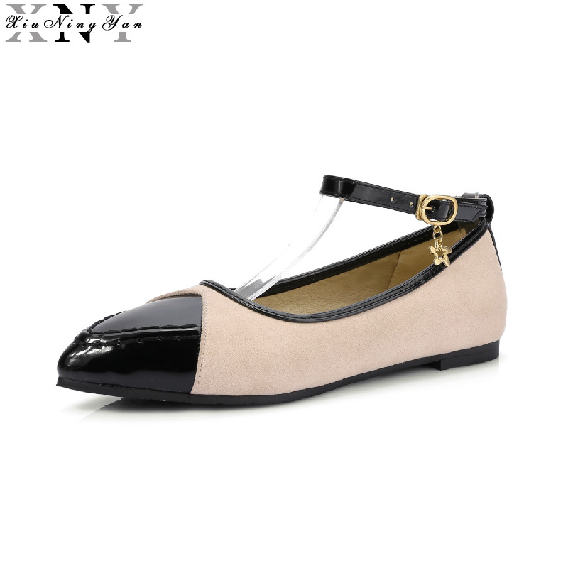 Mary Janes Summer Shoes Women Flats Pointed Toe Flat Heel Fashion Women's Flats Ladies Brand Shoes Driving Shoes Big Size 7/30 meotina brand design mules shoes 2017 women flats spring summer pointed toe kid suede flat shoes ladies slides black size 34 39