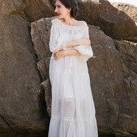 Elegant Dress Lady Dress High Quality Sleepwear Nightgown Royal Vintage Gowns Women Dress Pregnant women