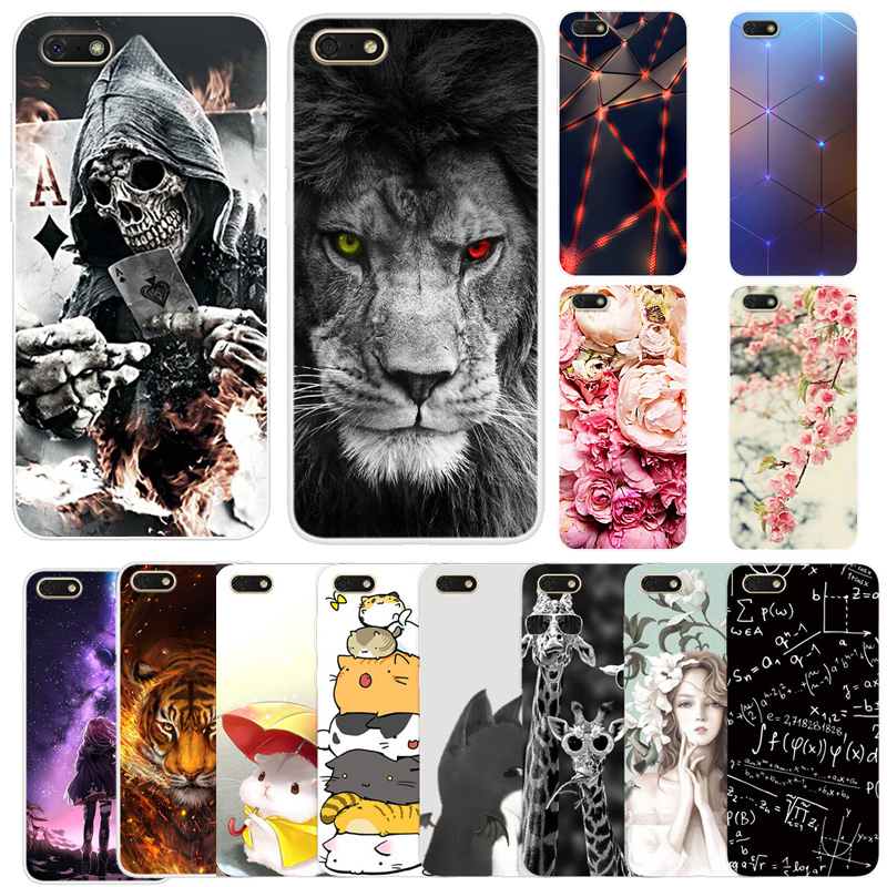 Case For Huawei <font><b>Honor</b></font> <font><b>7A</b></font> <font><b>DUA</b></font>-<font><b>L22</b></font> Case Silicone Soft TPU Phone Back Cover For Huawei Honor7A 7 A A7 Case 5.7