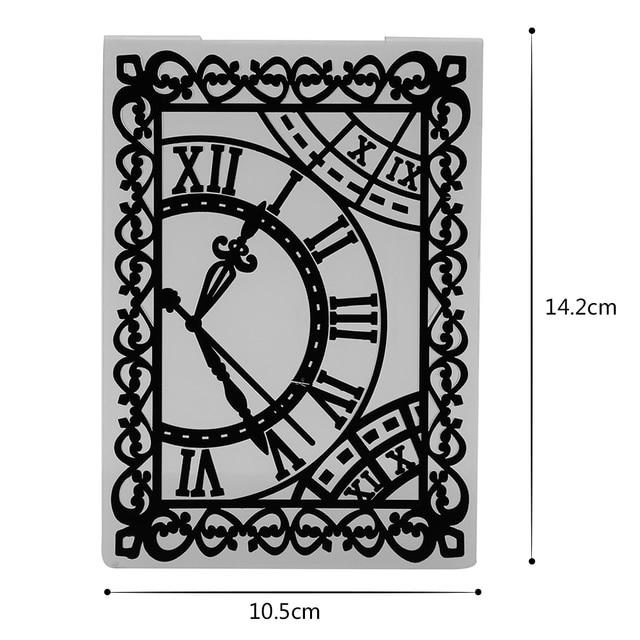 1pc Clock /Flower /Jingling Bell /Letters Plastic Embossing Folder ...