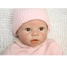 22 Inche Silicone Reborn Baby Doll För Pojkar Tjej Leksaker Säker Hobbies Real Life Brown Eyes Special Soft Doll