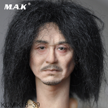 цена на 1/6 Scale Male Figure Accessory Kumik KM18-39 Male Paste Head Sculpt Figure Model PVC Hobbies for Collection