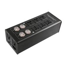 SKW 10-position buchse 15A 50-60 KHz Hallo-End Hifi Audio AC Power Filter, Audio Noise Filter, Power Conditioner, Power Purifie anti