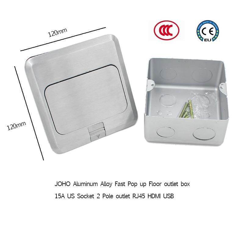 JOHO alliage d'aluminium Pop Up prises électriques Promotion 16A 250 V EU prise 2 pôles prise RJ45 HDMI USB pour salon - 3