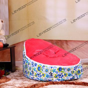 FRETE GRÁTIS saco de feijão bebê com 2 pcs rosa para cima da tampa de assento do saco de feijão do saco de feijão do saco de feijão sem enchimento móveis