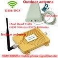Display LCD Dual Band GSM 900 DCS 1800 Repetidor de Sinal de Celular, GSM 4G LTE FDD Celular Amplificador de Sinal De Reforço com Antenas
