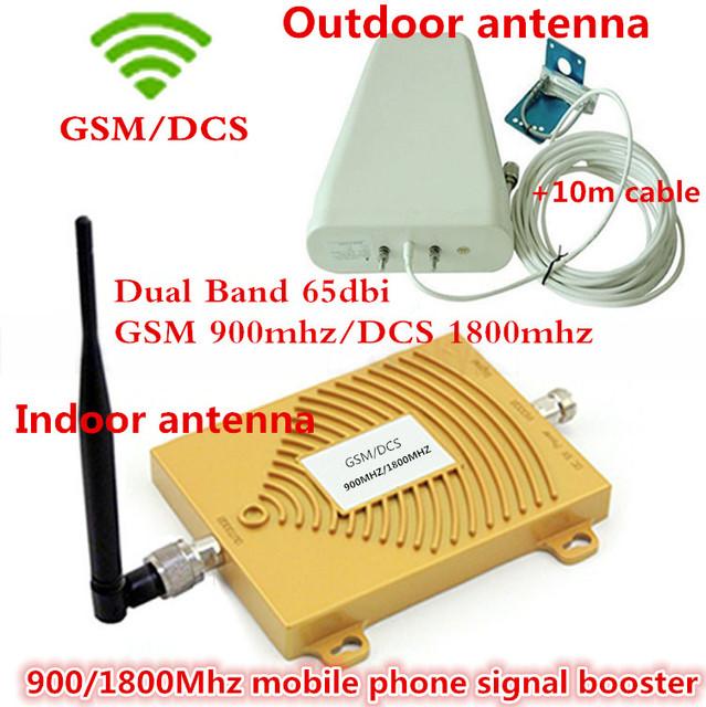 Pantalla LCD de Doble Banda Repetidor de Señal GSM DCS 900 1800 Móvil, GSM 4G LTE FDD Celular Amplificador de Señal de Refuerzo con Antenas