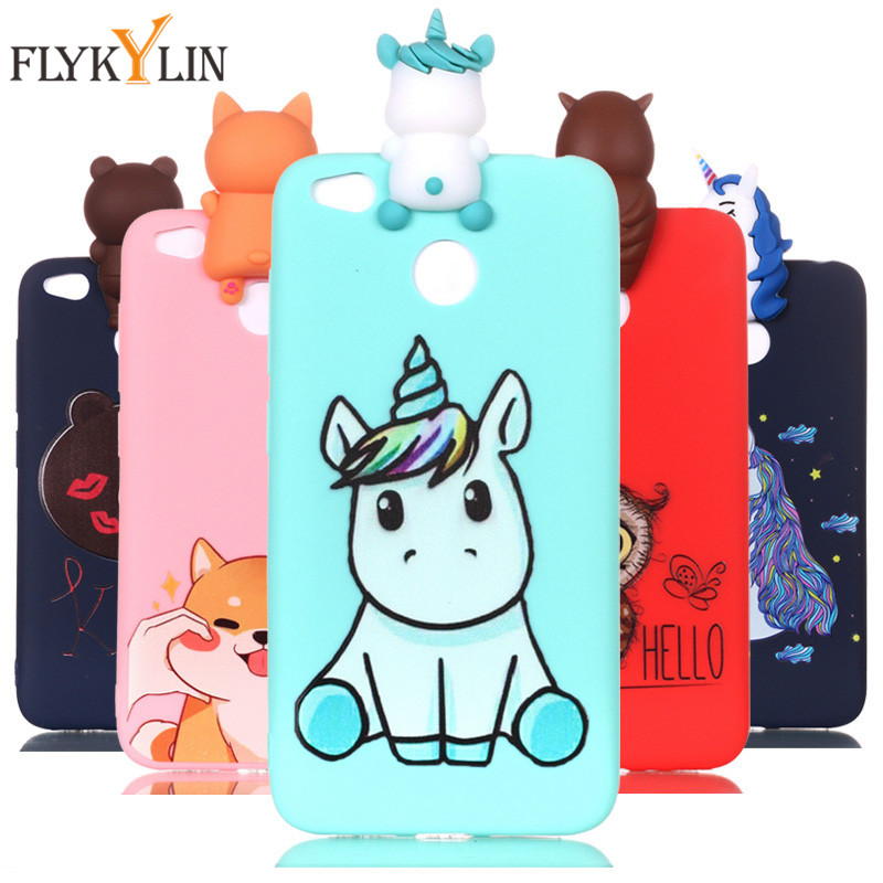For <font><b>Redmi</b></font> 4X Soft TPU Silicon Case on For Coque <font><b>Xiaomi</b></font> <font><b>Redmi</b></font> <font><b>4A</b></font> 4X S2 Case for <font><b>Redmi</b></font> 6 6A Covers Panda Unicorn Phone Cases Caque image