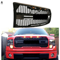 ABS Raptor Gloss Black Grill Front Grille For Ford F150 F 150 2009 2010 2011 2012 2013 2014