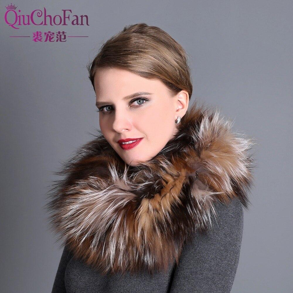 100% Natural Fur Shawl Luxury Silver Fox Fur Collar Scarf Women Real Fox Collars Down Wear Scarf Wholesale
