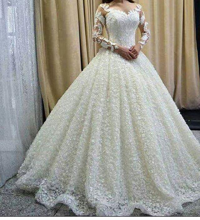 2019 Wedding Gown Design: New Design Ball Gown Wedding Dresses 2019 Sweetheart Long