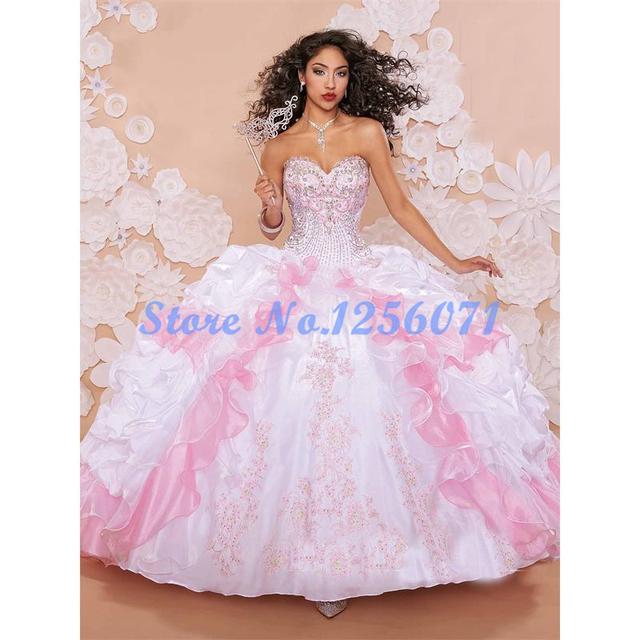 Bordados de fantasía Vestidos de Quinceañera Con Chaqueta Con Gradas de Quinceanera del Vestido Vestido Barato Vestidos de Quinceañera Debutante Vestido