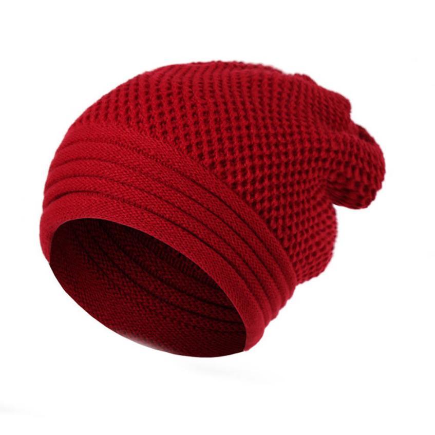 MUQGEW 2017 New Solid Color Casual Male Baggy Warm Cap Hat Mens Fashion Wool Knit Ski Caps Hat protetor de orelha inverno#WMEW