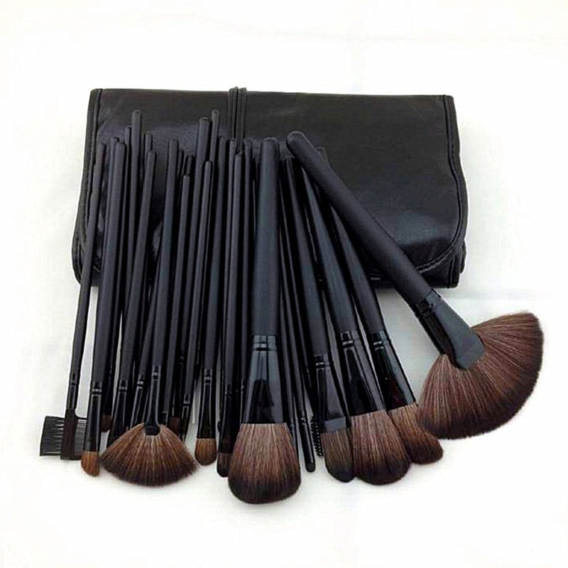 24 Pcs Makeup Brush Sets with Bag for Blending Foundation and Powder Suitable for Contouring and Highlighting 21
