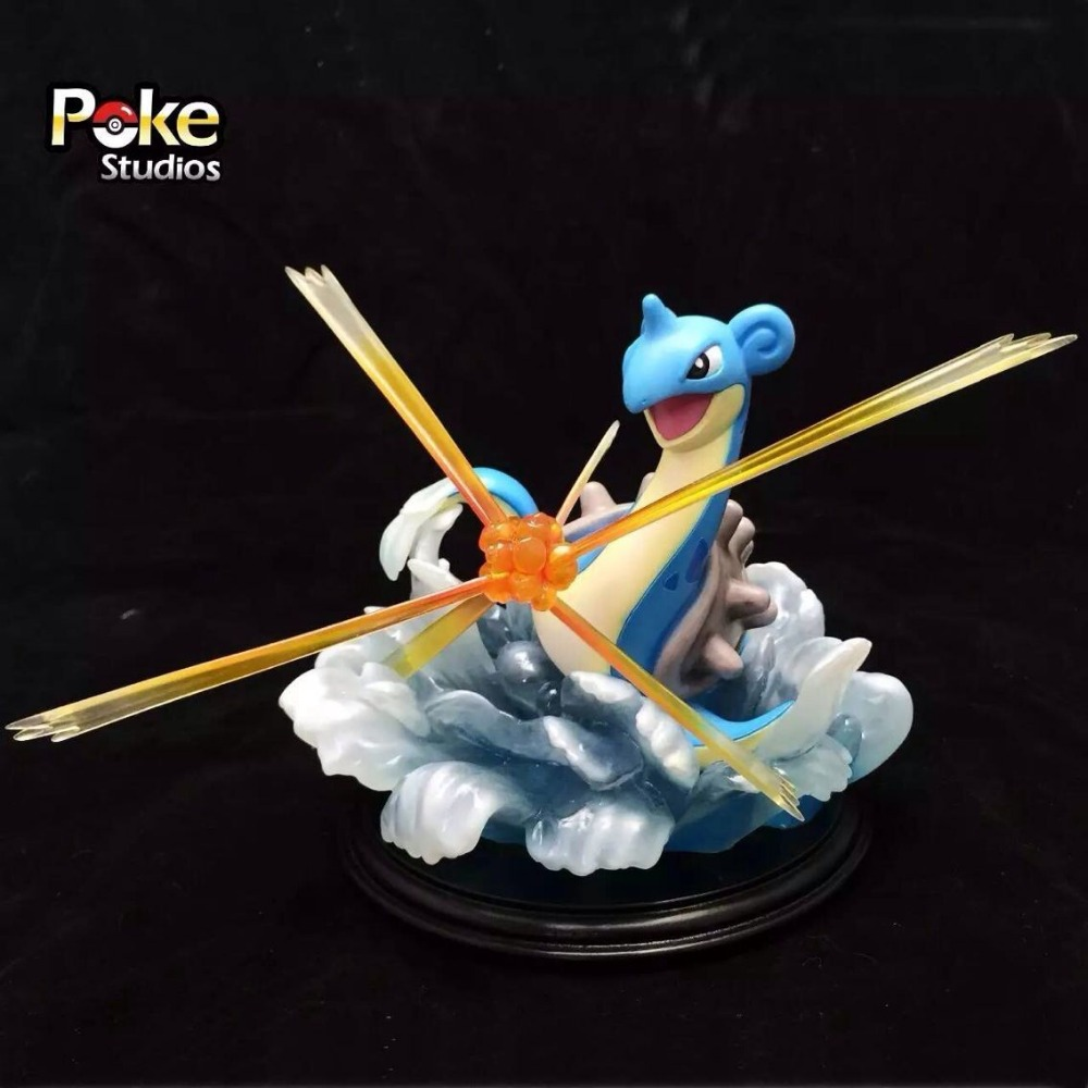 MODEL FANS IN-STOCK Genuine poke studios 20cm pokemon Lapras GK resin made figure toy for Collection model fans in stock 23cm pokemon snorlax gk resin made figure toy for collection