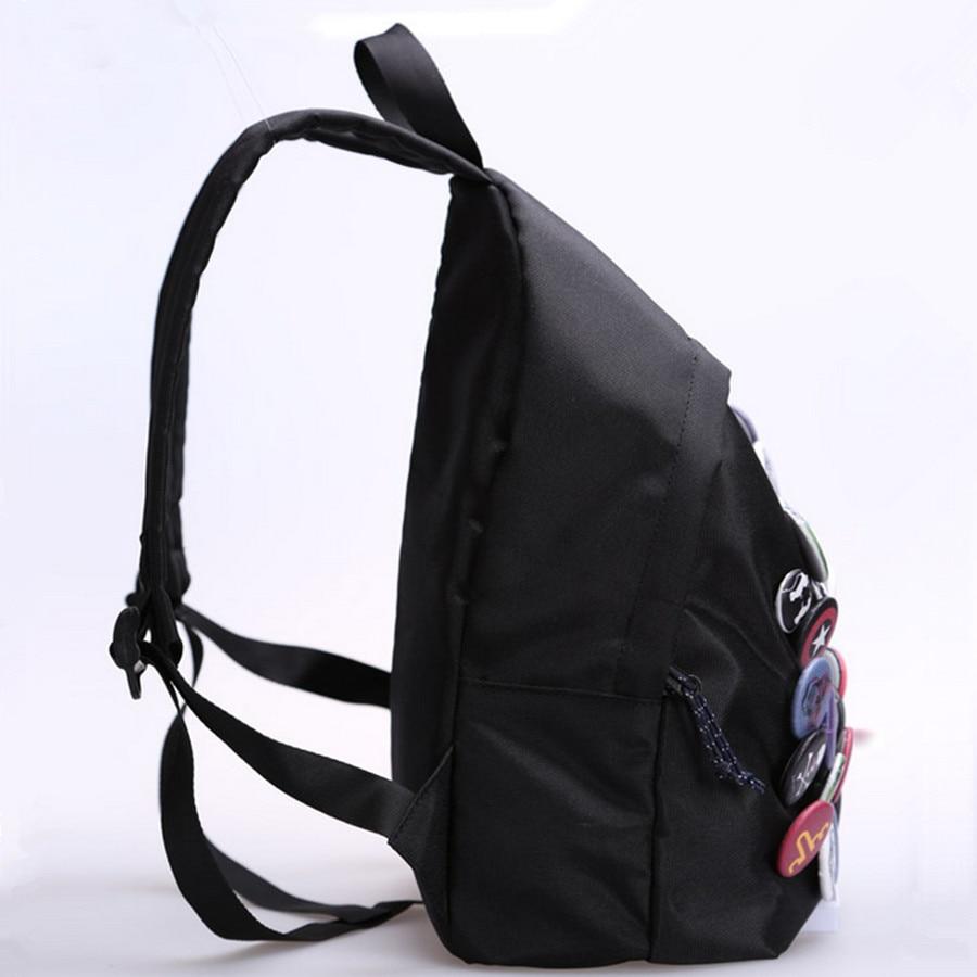 New Cool Badge Backpack Hip Hop Bookbag - ზურგჩანთა - ფოტო 4