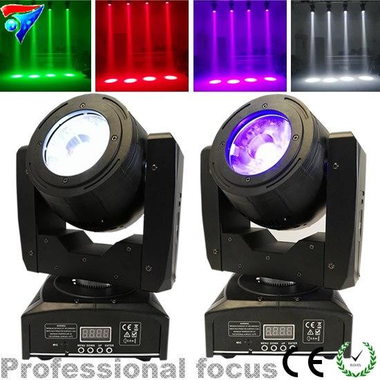 2 шт./лот мини 60 Вт moving head светодиодные лампы RGBW 4in1 Цвет луч эффект 4 градусов Большой объектив хорошо сканер луч