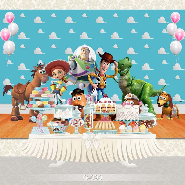 Photography backdrops Cartoon toy story candy Children Birthday party Studio Background baby backgrounds for photo studio