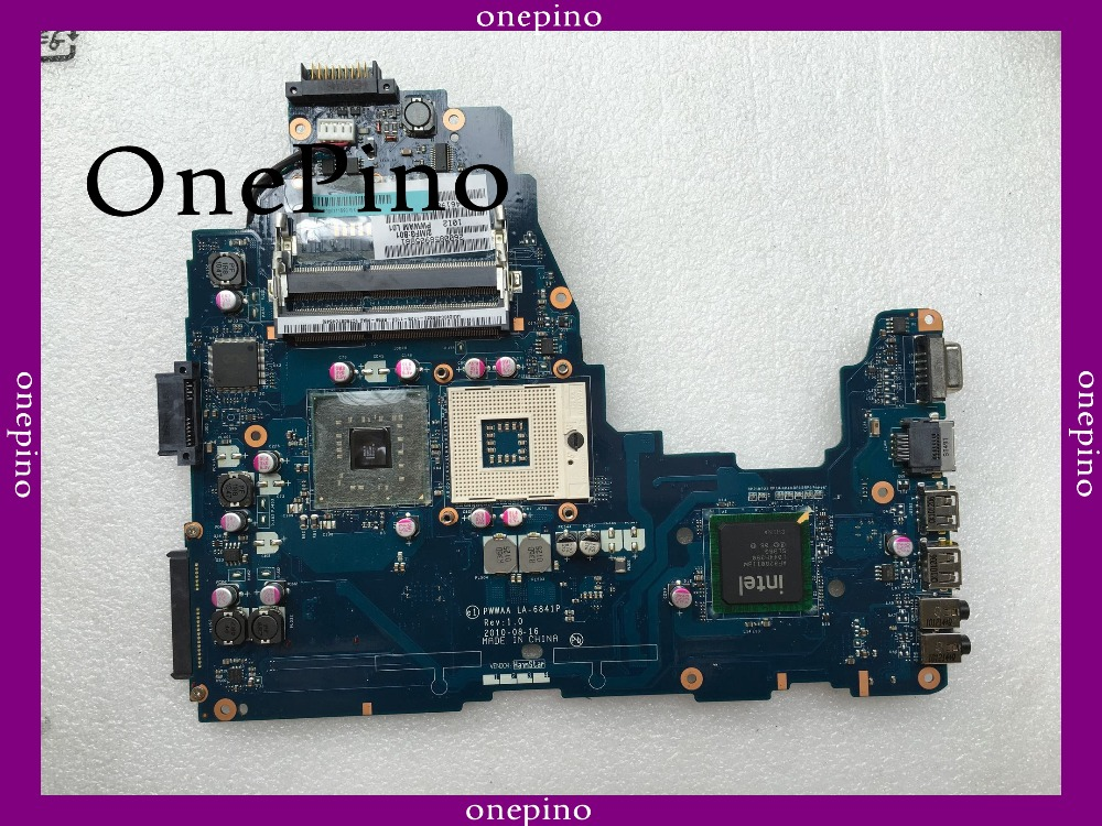 LA-6841P K000111590 fit for Toshiba C660 laptop motherboard DDR3 GL40 tested working цены