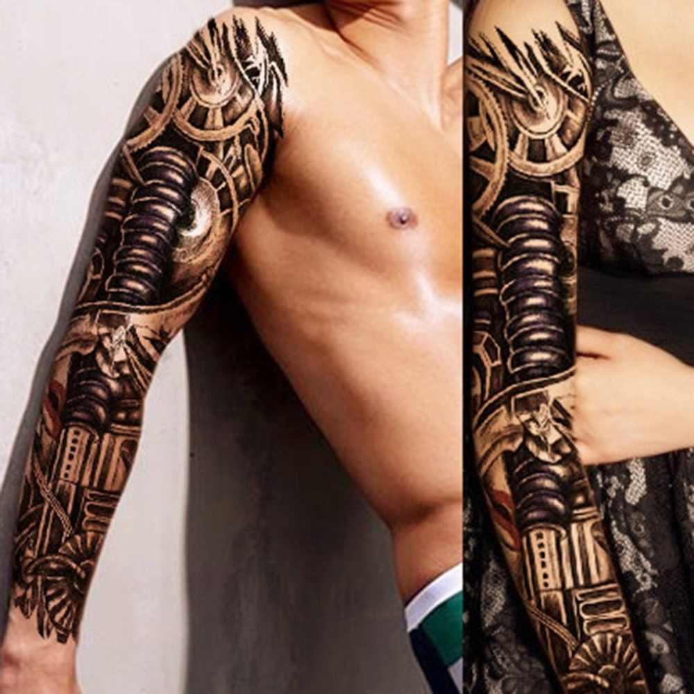 временные татуировки рукава дизайн полная рука водостойкие татуировки для
