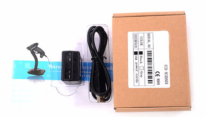 Portable wired 1D CCD barcode scanner with mini usb Fixed Mount Barcode Reader sensor Module