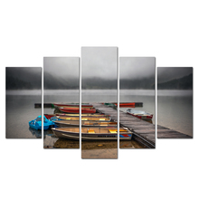 Free Shipping Posters And Prints Canvas Art Boat Lake Painting Wall Art Nursery Decorative Picture Kids Decoration Abooly