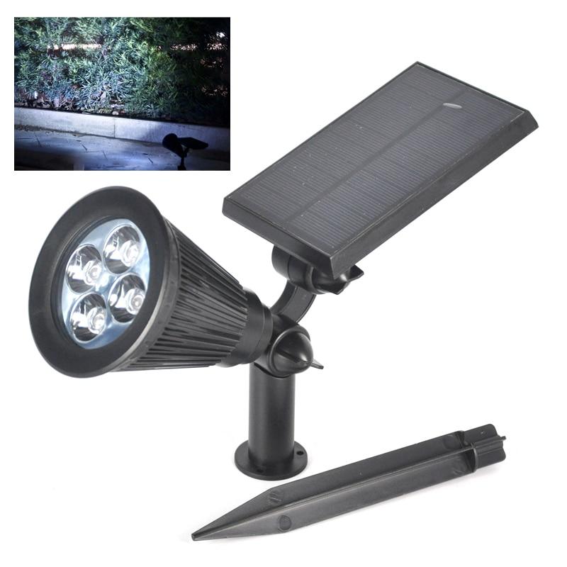 4 LED Solar Powered LED Street Light Waterproof Solar Spot Light Operated Lig