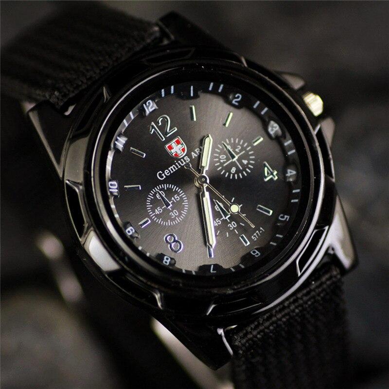 reloj hombre New Brand Sport font b Watches b font Men Leather Nylon Military Army Waterproof