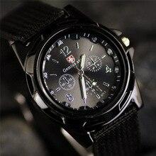 reloj hombre New Brand Sport Watches Men Leather Nylon Military Army Waterproof clock Men Outdoor Quartz watch zegarki meskie