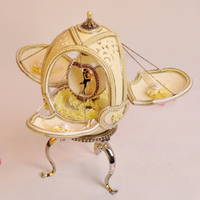 Royal quality ostrich egg carving gift music box wedding souvenir musica box marry girls