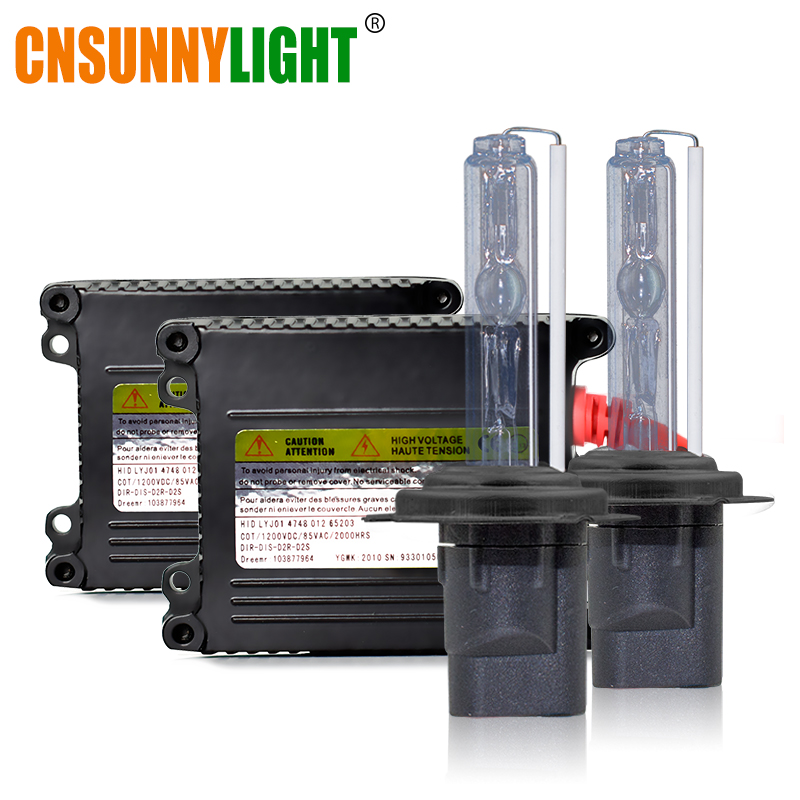 CNSUNNYLIGHT Xenon H7 H4 H11 HID Conversion Kit 4300K 6000K White 8000K Car Headlight H1 9005 9006 880 H3 3000K Yellow Fog Light