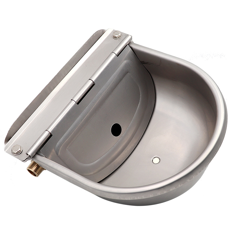Livestock Cow Horse New Automatic Water Bowls Stainless Steel Drinking Bowl Float Outlet For Cattle Dog  Sheep Pig Feeder 3