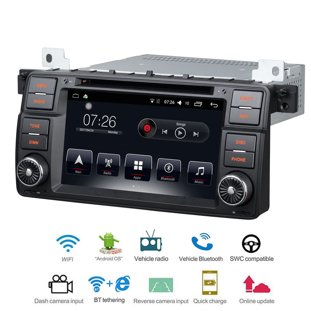 Car Multimedia player 1 Din Android 7.1 Car DVD For BMW E46/X3/Z3/Z4 E46 BMW M3 7 2G/16G Car Radio GPS