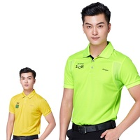 Summer Mens Training Exercise Golf Shirt Male Breathable Uniforms Shirts Quick Dry Short Sleeve Solid Top D0662